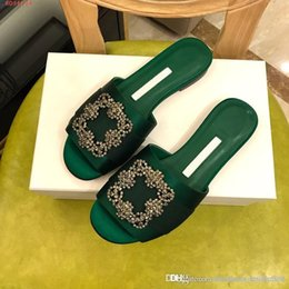 $enCountryForm.capitalKeyWord Australia - The 2019 spring lady slippers, Classic pair of silk with rhinestone flats Essential stylish slippers, For women to wear daily