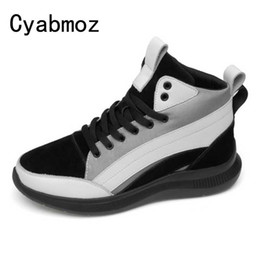 Men 5 7CM High Top Height Increasing Shoes Genuine Leather Breathable  Sneakers With Invisible Elevator Insole Casual Shoes ccd5b23ad774
