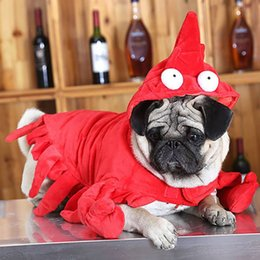 $enCountryForm.capitalKeyWord NZ - Pet Dog Cat Halloween Funny Costumes Christmas Red Lobster Cosplay Cloths Puppy Kitten Dress up Party Lobster Costume Supplies