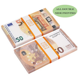 Vente en gros Movie Money Faux Billet papier Jouets Jouets Party USA 20 50 100 Dollar Euro Prop Banknote pour enfants cadeaux de Noël ou film vidéo