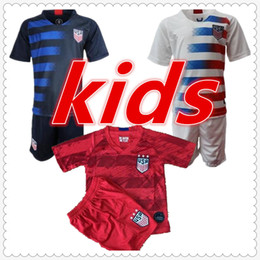Football Jersey T Shirts NZ - American usa kids designer clothes boys mens designer t shirts soccer jersey 2019 2020 usa PULISIC football shirt camisa maillot de foot