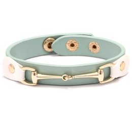 sticky gifts Australia - Luxury Designer Jwelry Women Bangles Korea Style Gold Bracelet For Fashion Girl Adjustable Sticky button Leather Bangle for ladies