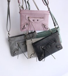 Bag Motorcycle Chains NZ - Women Motorcycle Shoulder Bag Rivet Fringed Chain Bags high quality Luxary Handbags Wallet Famous Brands handbag Crossbody Bag B812