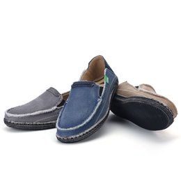 Old Khaki UK - Classic old Beijing cloth men's shoes spring and summer lazy low upper breathable shoes