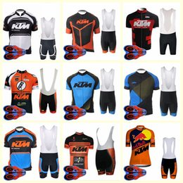 team kits Australia - KTM team Cycling Short Sleeves jersey bib shorts set Quick-Dry Kits Strap summer bike clothes gel pad Sportwear new U82732