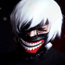 tokyo ghoul masks UK - Tokyo Ghoul PU Halloween Mask Props Grudge Ghost Mask Realistic Masquerade Halloween Cosplay Mask Ghost Scary Masks