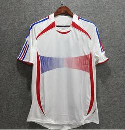 e13a2393ea0 ^_^2006 Retro france soccer jersey ZIDANE Henry Trezeguet Vieira Ribery 06 world  cup Shirts Maillot de Foot top quality