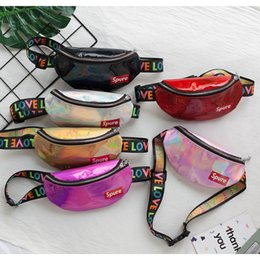 Wholesale Laser unisex waist bag fashion designs mini baby chest bag childrens crossbody sling shoulder bag for little girls boys kids