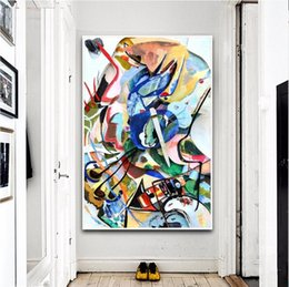 $enCountryForm.capitalKeyWord NZ - Wassily Kandinsky Geometric Abstract Handpainted & HD Print Graffiti Art Oil Painting On Canvas Wall Art Home Office Deco High Quality l61