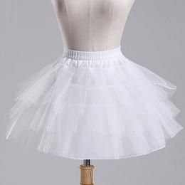 White Short Petticoat Australia - New White A-Line Short Crinoline Petticoat,flower Girl dress Petticoat,Bustle Skirt,Boneless Bustle,underskirt Wedding Short Petticoat