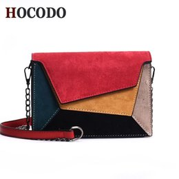 criss cross chain Australia - HOCODO Leather Patchwork Women Messenger Bag Retro Matte Crossbody Bags For Women Chain Strap Shoulder Bag Flap Criss-Cross Bag Y200102