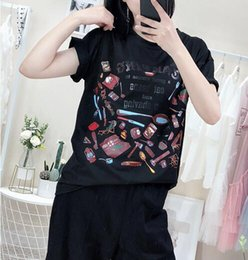 Korean Print T Shirt For Women Australia - New 2019 Summer Fashion Geometraic Print T Shirt Women O-neck Short Sleeve Loose Tops For Women Kawaii Korean version
