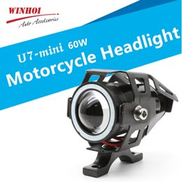 light spotlights motorcycles Australia - U7 Mini Led Motorcycle Headlights 60W 6500k Universal Motorbike Head Light Lamp Waterproof Fog Light Spotlight Hi Lo Flash