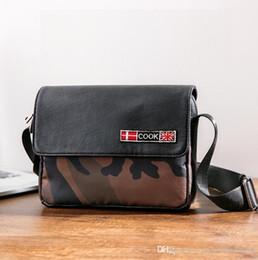 Shoulder Bag Print Australia - outlet brand men handbag outdoor leisure camouflage Messenger bag men essential leopard print fashion shoulder bag flip contrast leather