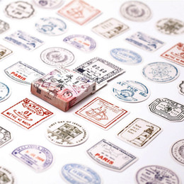 $enCountryForm.capitalKeyWord Australia - Hot Sale 45pcs box Special Stamp Washi Tape Decorate Japanese Stationery Scrapbooking Supplies Stickers Office Adhesive Tape 2016