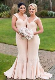 Wholesale 2020 Long Strapless Bridesmaid Dresses Mixed Style Formal Dress For Junior Bridesmaid Wedding Party Dresses Country Style