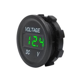 Battery Volt Tester Australia - LED Display Digital Panel Voltmeter Electric Voltage Meter Volt Tester for Auto Battery Car Motorcycle Ship 5-48V