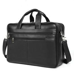 AttAche briefcAses online shopping - Fashion Men Cowhide Leather Antique Design Business Briefcase Laptop Document Case Attache Messenger Bag Tote Portfolio New