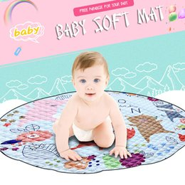Cartoon Fox Cotton Baby Kids Gym Play Mat Crawling Blanket Portable Round Carpet Children Toys Playmat Storage Bag 150cm Mother & Kids