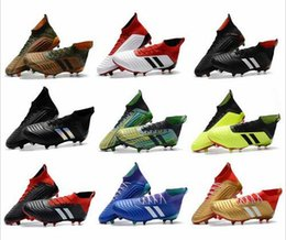 Mens grounding shoes online shopping - 2018 Predator soccer shoes Firm Ground Cleats mens football boots World Cup Paul Pogba Indoor Outdoor Football Shoes Zapatos