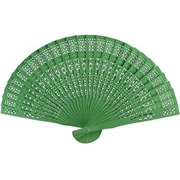 paper fan flower decorations UK - 8 Inch Chinese Japanese Folding Fan Original Wooden Hand Flower Bamboo Pocket Fan For Home Decor Party Decoration Other Home Decor