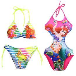 Swimwear Infant Australia - children bikini Infant Baby Girls Swimwear Kids Swimsuit Cartoon Costume Tankini Bathing Suit CA