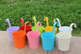 $enCountryForm.capitalKeyWord Australia - Colorful Hanging Flower Pot Hook Wall Pots Iron Flower Holder Balcony Garden Planter Home Decor Plant Pots Flower Holder Garden Supplies 222