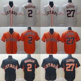 ea3dc79dd Mens Houston Jersey 27 Jose Altuve 2 Alex Bregman Cool Base 100% Stitched  Astros Baseball Jerseys Cheap Fast Shipping S-XXXL