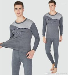 thermal suits Australia - High Grade Warm Suit Mens Long Sleeve Underwear Mens Casual Clothing Autumn and Winter New Thermal Underwear