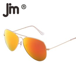 $enCountryForm.capitalKeyWord Canada - Retro Lightweight Aviation Flash Mirrored Lens Driving Sunglasses for Women Men UV400 Metal Frame Vintage Sun Glasses