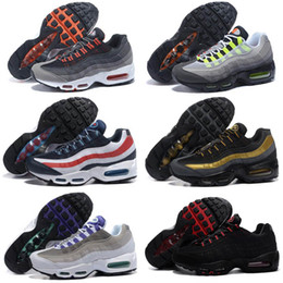 ed5c43c26c 20th Anniversary MID Shoe 95s Sneakerboot 95 black white Army Boots Men  Autumn Winter air cushion ankle Sealed-zip Running Shoes 40-46