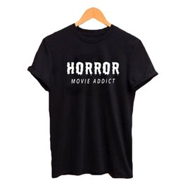 d9d2b337 Funny halloween shirts online shopping - Horror Movie Addict T shirt Funny  Halloween Gift Women s