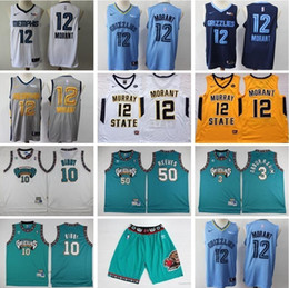 BreathaBle man pants online shopping - Memphis Basketball Grizzlies Ja Morant Jersey Michael Mike Shareef Abdur Rahim Bryant Reeves Shorts Pant Murray State Racers Blue