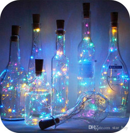 bottle lights NZ - Wine Bottle Lights With Cork 2M 20LED Lights For Liquor Bottles String Lights For Party Wedding Christmas Halloween Bar Jar Lamp Decor