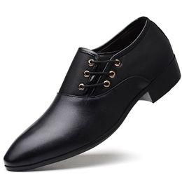 Big Dress Up NZ - Big Size 38-48 Fashion Men Formal Shoes Man Wedding Dress Shoes Pointed Toe British Oxfords Lace-up Shoes