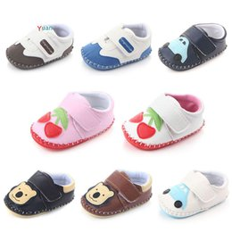 blue cow cartoon Australia - Joyo Roy Spring Summer Antunm 0-18 Months Baby Shoes Girls Boys Soft Bottom Cute Cartoon PU Non Slip Shoes Leather Baby DTS23