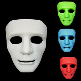 Pvc Plastic Full Face Masks Australia - Hot Hip-hop Halloween Street Dance Mask Men's Full face Party Costume Cosplay hand painted Christmas Masquerade Plastic Plain Thick Masks