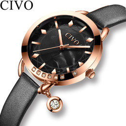 girl watches NZ - CIVO Fashion Watch Women Waterproof Quartz Watch Ladies Top Brand Luxury Female Watch Girl Leather Strap Clock Relogio Feminino V191217