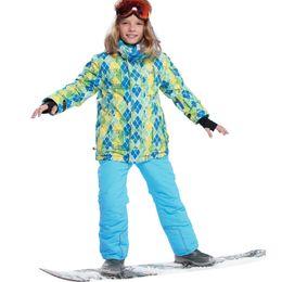 $enCountryForm.capitalKeyWord Australia - Children Sets 2019 Winter Kids Sport Set Ski Suit for Boys Hooded Warm Snowboard Jackets + Pants Windproof Waterproof