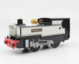 plastic train track set 2019 - FREDDLE Electric Trains Motorized Train Set Compatible with Brio Train Track Railway Engine Locomotive Christmas Gift Ch