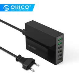 Usb Quick Charger Australia - Orico Qsl-6u 6 Ports Qc2.0 Quick Usb Charger Mobile Phone Charger For Samsung Huawei Lg Iphone Adapter Eu us uk au Plug T6190608