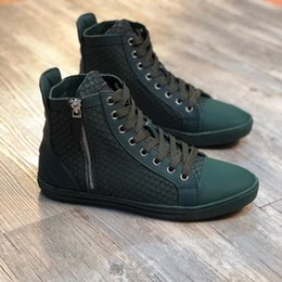 cf830881b Wholesale Black GZ Sneaker Men Women Luxury Designer High Top Genuine  Leather Clasp Zipper Short Boots Brand New Comfort Casual Shoes