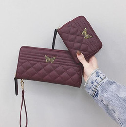 $enCountryForm.capitalKeyWord NZ - Factory wholesale brand women handbag fashion Lingge women multi-function wallet cute butterfly lock long wallet multi-card leather zipper c