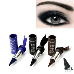 Gel Eyes Liner Australia - 1 pc Women Smoky Eyes Pencil Thicker Thick Solid Bold Black Eyes Liner Pencil Gel Eyeliner Wholesale Available
