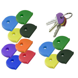 Discount pvc key tags - 24 PCS Assorted Color Key Top Cap Cover Topper Keyring ID Marker Tags Key Chains Accessories