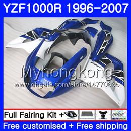 White abs thunderace online shopping - Body For YAMAHA YZF1000R Thunderace Blue white hot HM YZF R YZF R Fairing kit
