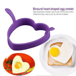 $enCountryForm.capitalKeyWord NZ - Heart Shape Silicone Egg Tools Pancake Mold Fried Egg Mold Pancake Rings Form For Eggs Kitchen Kitchen Tools