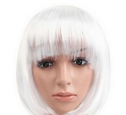 Color Bob Wigs UK - WIG 1115+++Womens Lady Short Straight Hair Fashion Full Wigs Cosplay Party Bob Wigs