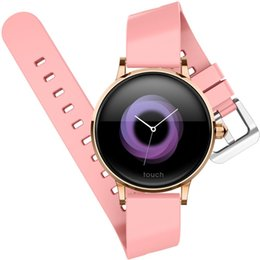 3d smart watch UK - Newest Fashion H2 Smart Watch Women 3D Diamond Glass Heart Rate Blood Pressure Sleep Monitor Best Gift Smartwatch