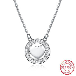 Fix Chain Australia - Heart-shaped Rose Gold S925 Sterling Silver Romantic Wedding Fixed 40+5cm Diamond-studded Love Engagement luxury designer women Necklace